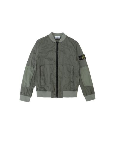 STONE ISLAND JUNIOR 40335 NYLON METAL WATRO RIPSTOP Jacket Man Sage Green EUR 340