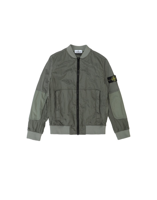 Jacket Man 40335 NYLON METAL WATRO RIPSTOP Front STONE ISLAND JUNIOR