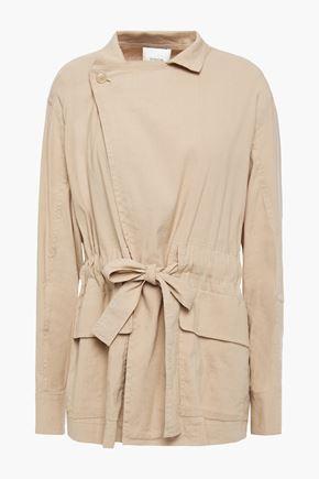 VINCE. Belted linen-blend jacket
