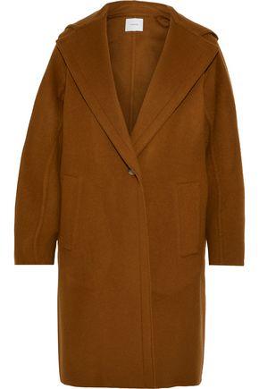 VINCE. Wool-blend felt hooded coat