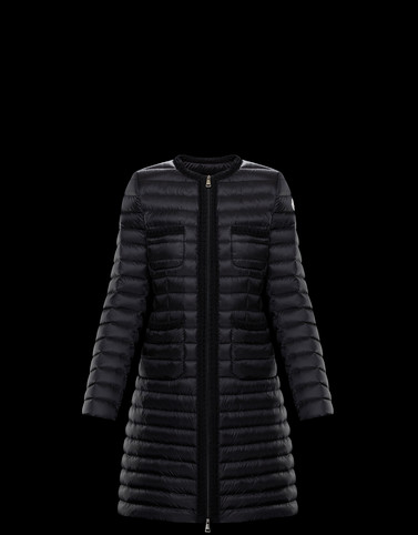 CHARTREUSE Black Short Down Jackets Woman