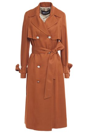 JUST CAVALLI Belted twill trench coat