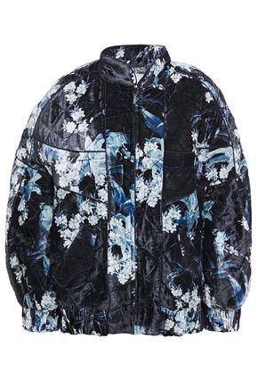 JOHANNA ORTIZ Taking Back Sunday quilted floral-print velvet jacket