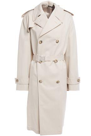 MAISON MARGIELA Appliquéd gabardine trench coat