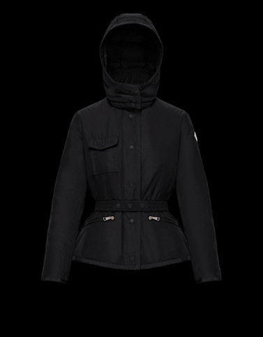 ROSE Black Category Overcoats Woman