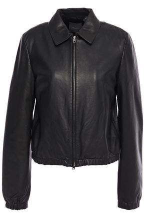 THEORY Texture-leather jacket