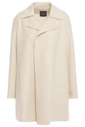 THEORY Brushed mélange wool and cashmere-blend felt coat