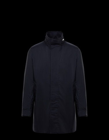 AUZANCE Dark blue Coats & Trench Coats Man