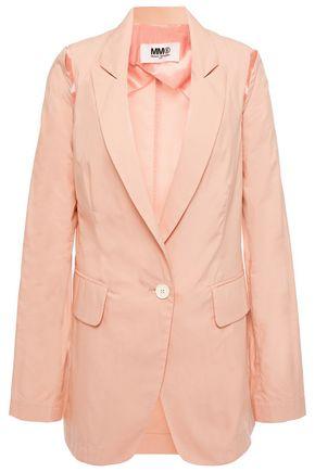 MM6 MAISON MARGIELA Cutout cotton-blend poplin blazer