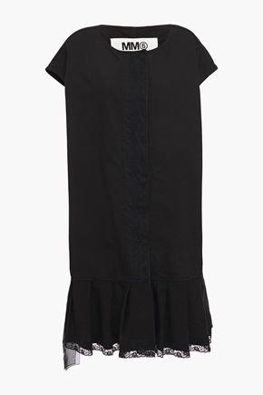 MM6 MAISON MARGIELA Oversized lace-trimmed cotton-canvas vest
