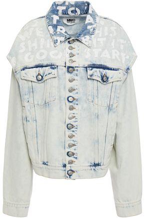 MM6 MAISON MARGIELA Cutout printed denim jacket