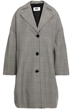 MM6 MAISON MARGIELA Oversized Prince of Wales checked wool-blend coat