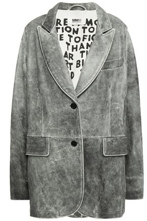 MM6 MAISON MARGIELA Cutout suede jacket