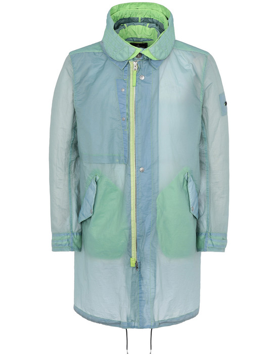 STONE ISLAND SHADOW PROJECT 70105 FISHTAIL PARKA LONG JACKET Man Light Green