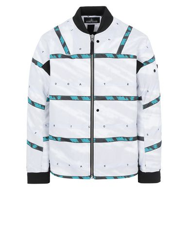 STONE ISLAND SHADOW PROJECT 40812 BOMBER JACKET Jacket Man White EUR 925