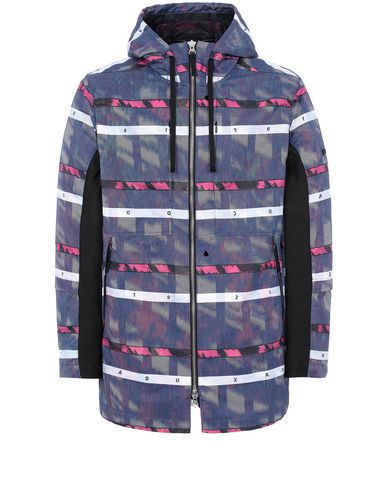 STONE ISLAND SHADOW PROJECT 40212 HOODED COAT Blouson Homme Bleu Roi EUR 1190