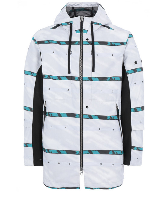STONE ISLAND SHADOW PROJECT 40212 HOODED COAT Jacket Man White