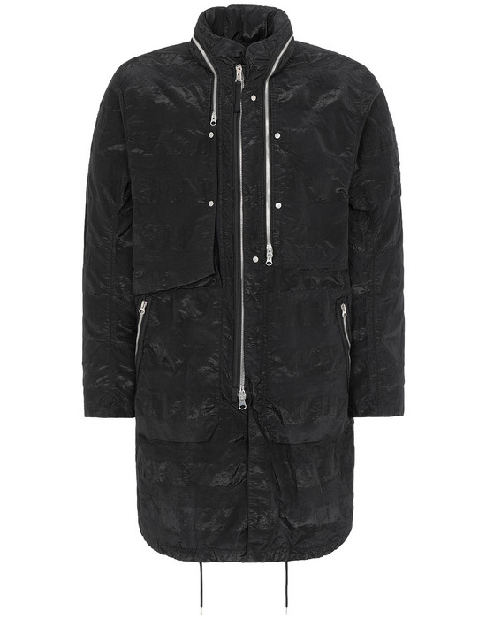 STONE ISLAND SHADOW PROJECT 70401 FISHTAIL PARKA LONG JACKET Man Black