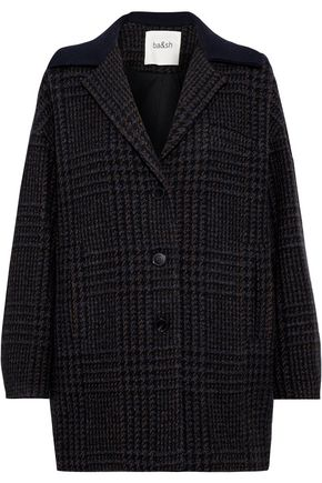 BA&SH Told checked wool-blend coat