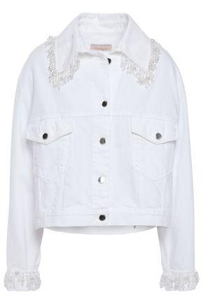 CHRISTOPHER KANE Bead-embellished denim jacket