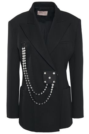 CHRISTOPHER KANE Cupchain crystal-embellished twill blazer