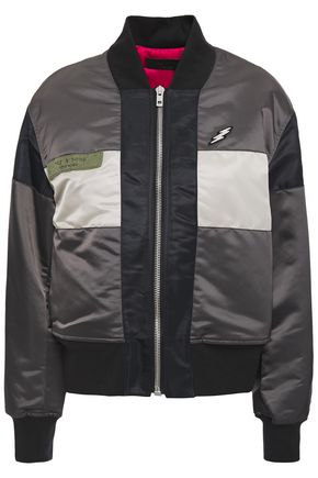 RAG & BONE Riley appliquéd color-block shell bomber jacket