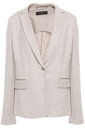 RAG & BONE Lexington grosgrain-trimmed wool blazer