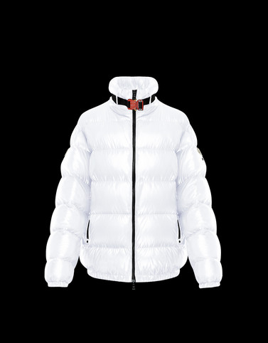 SIRUS White Short Down Jackets Woman
