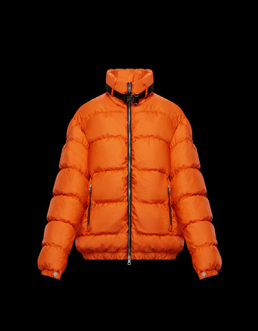 DEIMOS Orange Short Down Jackets Woman