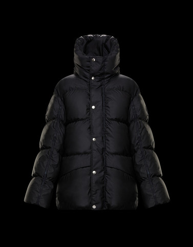ERIS Black Short Down Jackets Woman