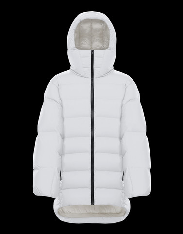 ZENIT White Short Down Jackets Woman