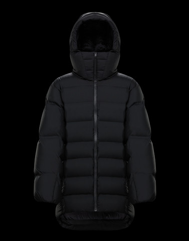 ZENIT Black Down Jackets Woman