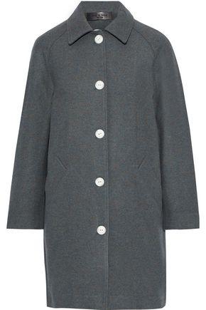 """RAG & BONE معطف """"جيما"""" من الجوخ المصنوع من مزيج الصوف المرقّش مع أزرار كبس"""