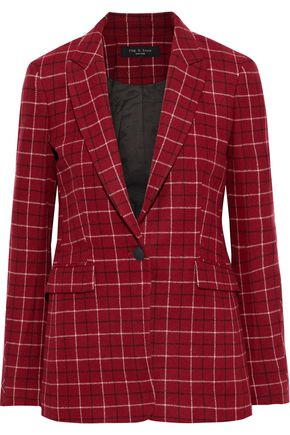 RAG & BONE Hazel checked wool-blend blazer