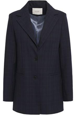 MAJE Checked twill blazer