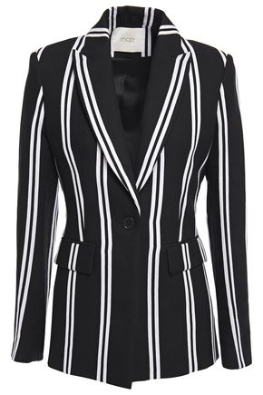 MAJE Striped jacquard blazer