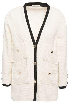 MAJE Two-tone cotton-tweed jacket