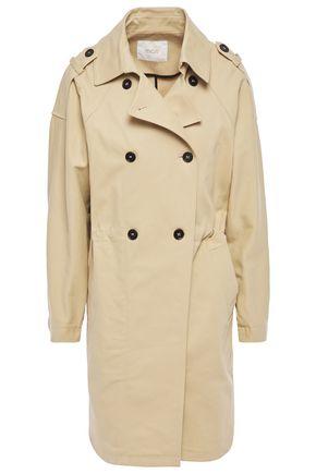MAJE معطف واقٍ من المطر من القطن المرن