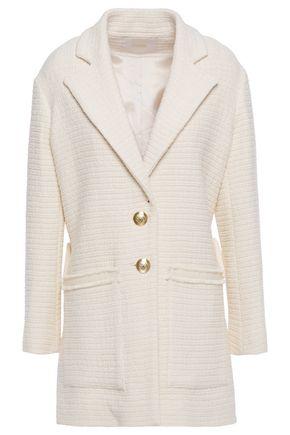 MAJE Frayed cotton-blend tweed blazer
