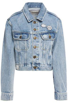 MAJE Appliquéd denim jacket
