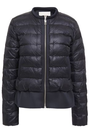MAJE Scuba-trimmed quilted shell down jacket