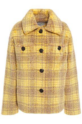 GOEN.J Checked faux fur jacket