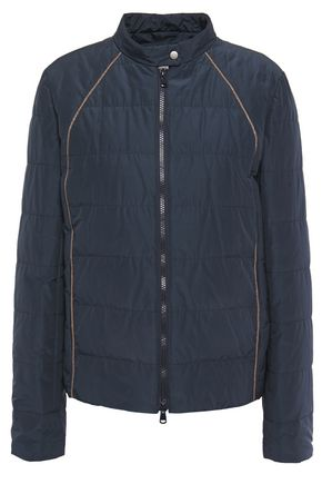 BRUNELLO CUCINELLI Bead-embellished quilted shell jacket