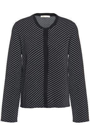 MAJE Striped stretch-knit cardigan