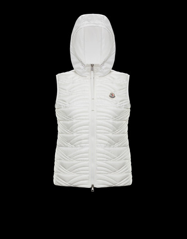 GLAUQUE White Category Waistcoats Woman