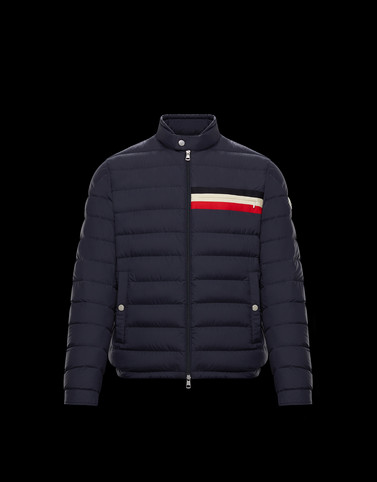 YERES Dark blue Down Jackets Man