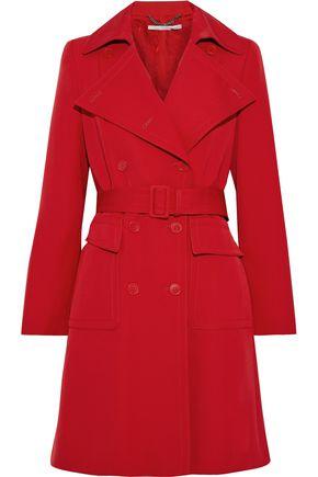 """STELLA McCARTNEY معطف واقٍ من المطر """"إيريكا"""" من الغبردين الصوفي مزوّد بحزام"""