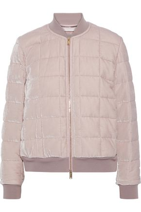 STELLA McCARTNEY Meghan quilted velvet bomber jacket