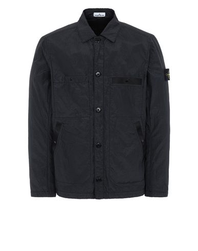 STONE ISLAND 44229 S.I.PA/PL SEERSUCKER-TC Jacket Man Black USD 486