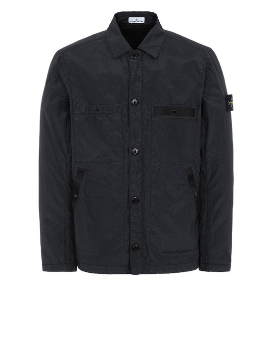 STONE ISLAND 44229 S.I.PA/PL SEERSUCKER-TC Jacket Man Black